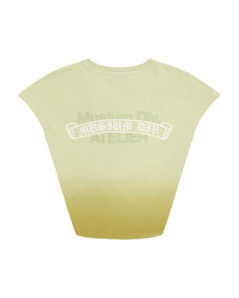 Knotted logo print vest