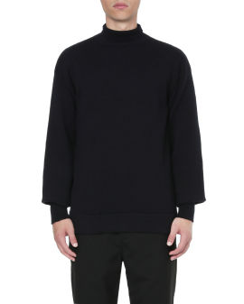 Turtleneck pullover wool top