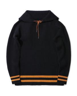 Pullover wool hoodie