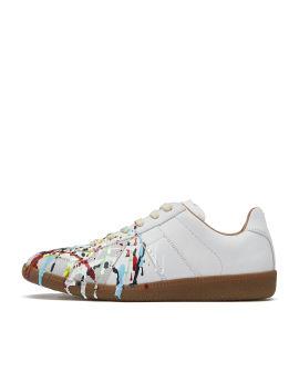 Replica splatter print sneakers