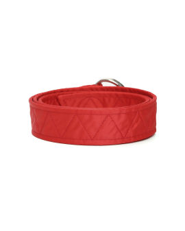 Quilted logo embroidered belt