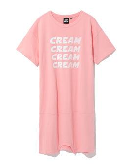 Graphic logo t-shirt dress