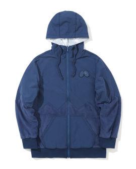 Reversible fleece zip hoodie