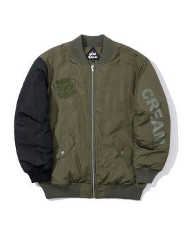 Slogan bomber jacket