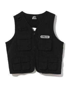 Logo patch utility vest