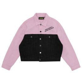 Split denim jacket