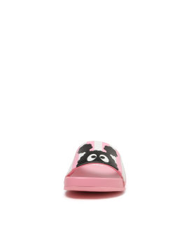 Emblem stripe slippers
