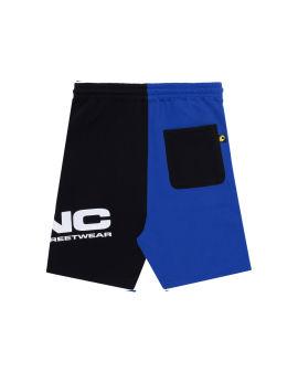Two-tone sweat shorts