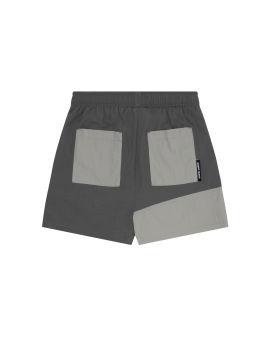 Panelled logo shorts