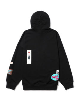 Graphic patches hoodie