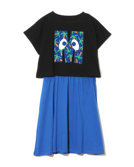 Initial print tee and shift dress separates