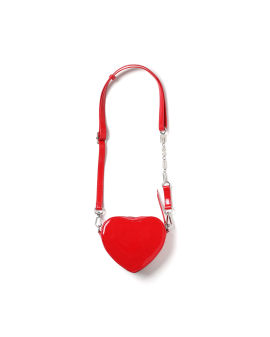 Heart shaped logo print bag