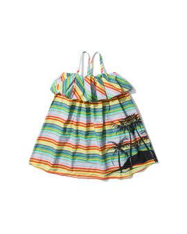 Palm tree stripe dress