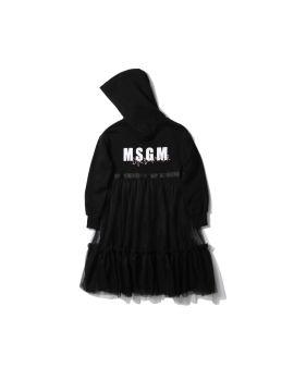 Hooded tulle dress