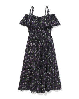 Grapes printed off-the-shoulder dress