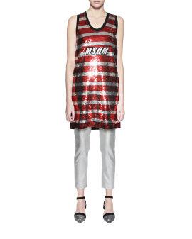 Stripe sequin dress
