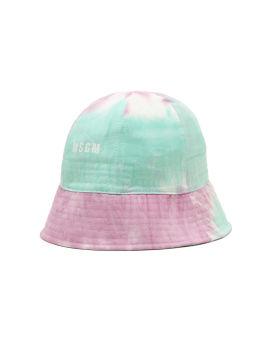 Tie-dye logo bucket hat