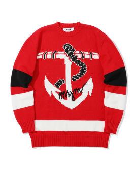 Nautical striped knit sweater