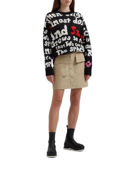 Intarsia knit sweater