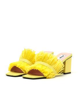 Woven tassels embellished sandals