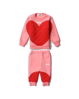 Heart padded twin set
