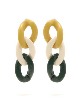 Chain loop earrings