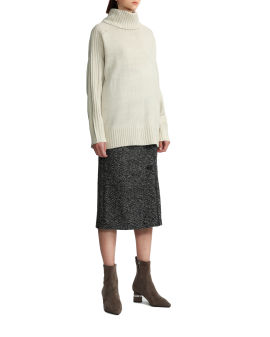 Rolled neck knit sweater