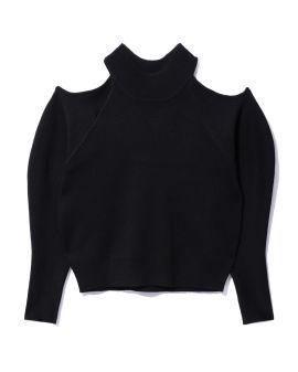 Asymmetrical knit top