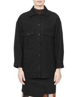 Oversized patch pocket jacket