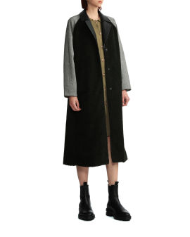 Panelled trench coat