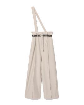 Strapped wide leg pants
