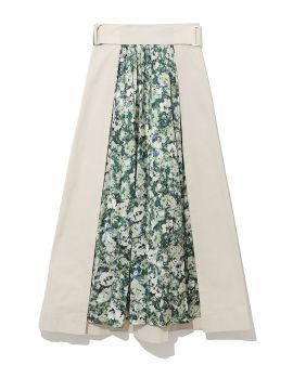 Spliced floral skirt