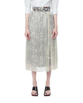 Pleated panelled skirt