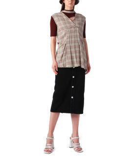 Turtleneck and knit vest set