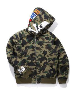 Camo print zip jacket