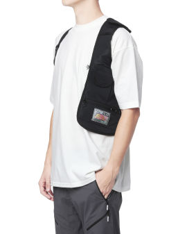 Graphic patch harness vest