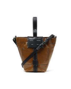 Small coated canvas bucket bag