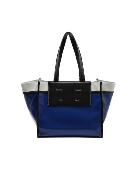 Large coated canvas tote bag