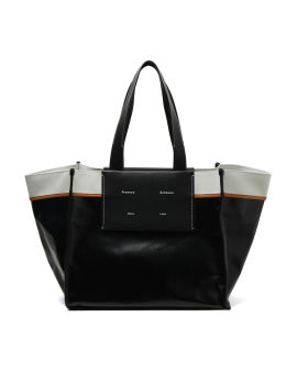 Coated canvas tote bag