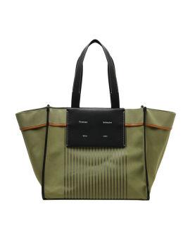 Stripe canvas tote bag