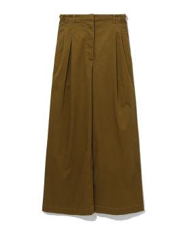 Cotton twill wide leg pants