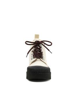 Canvas hi-top sneakers