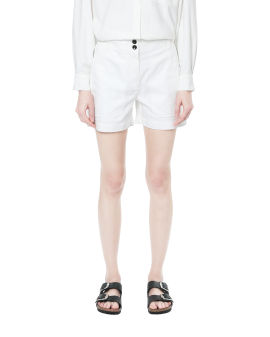 Cotton chambray shorts
