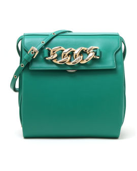 Large daft chunky chain embellished bag