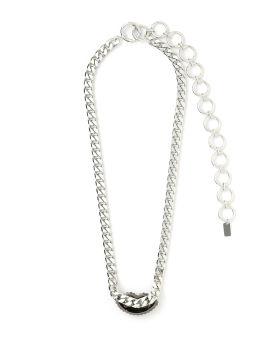 Crystal embellished lip chain belt