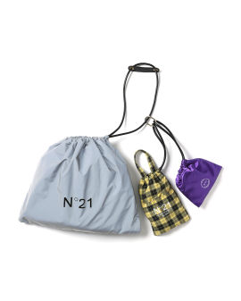 Logo-print drawstring bags set