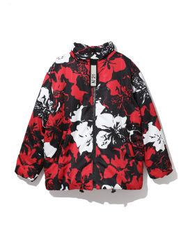 Floral print padded jacket