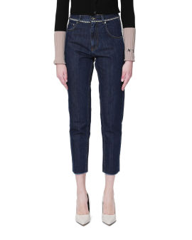 Chain belted jeans