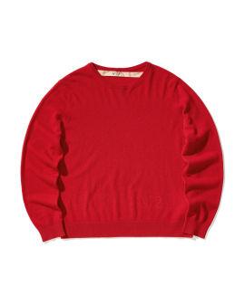Logo embossed sweater