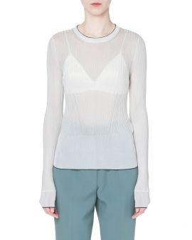 Ribbed-knit jumper